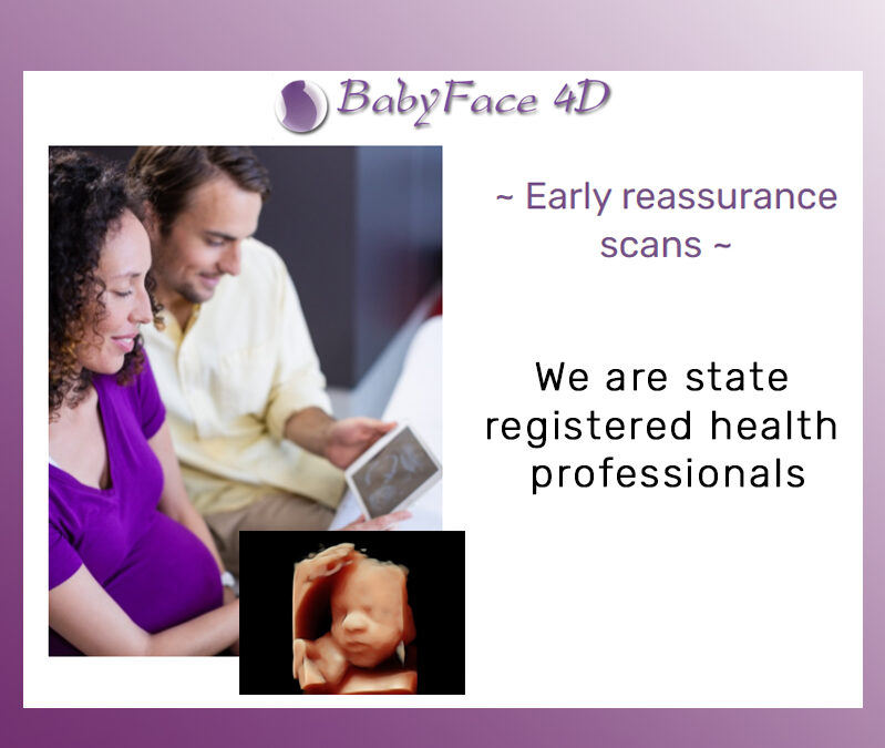 Early reassurance scans for announcing pregnancy